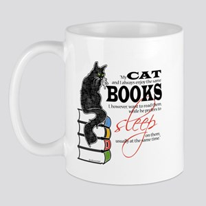 Cat and Books 2 Mug