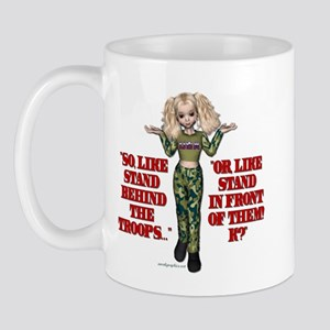 Stand Behind the Troops USA G Mug