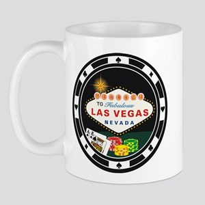 Las Vegas Poker Chip Design Mug
