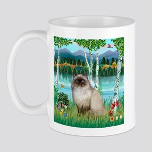 Birches / Himalayan Cat Mug