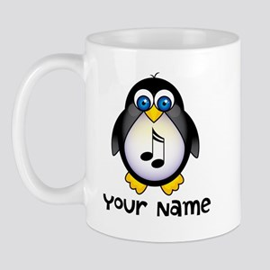 Personalized Music Penguin Mug