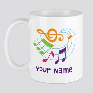 Personalized Music Swirl Mug