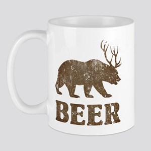 Bear+Deer=Beer Vintage Mug