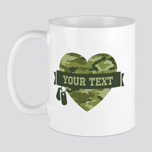 PD Army Camo Heart Mug