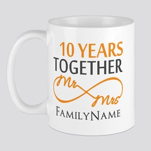 10 Year Anniversary Mugs Cafepress