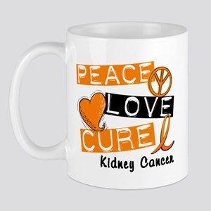 PEACE LOVE CURE Kidney Cancer (L1) Mug