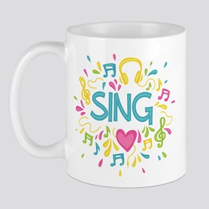 Sing Choir Music Mug