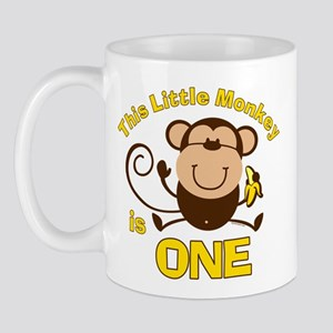 Little Monkey 1st Birthday Boy 11 oz Ceramic Mug