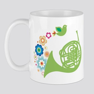 Retro Flower French Horn Mug