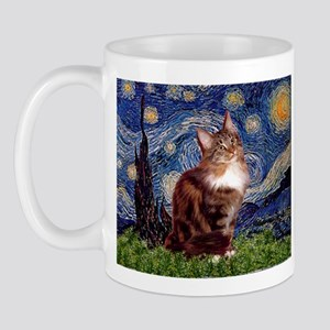 Starry Maine Coon Mug