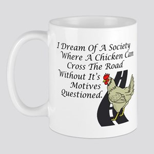 Chicken Crossing The Road Mug