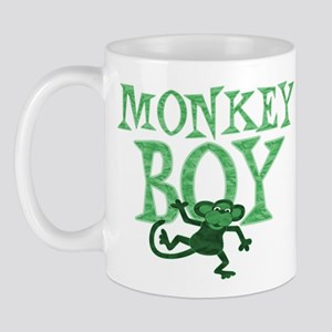 Green Monkey Boy Mug