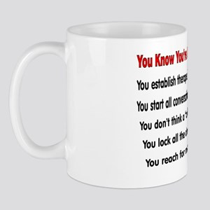 You know youre a PSYCH nurse IF Mug