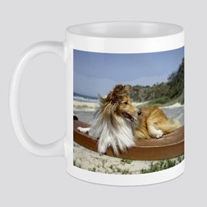 Sheltie on the Beach Mug