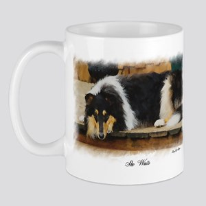 Tri Color Collie 11 oz Ceramic Mug