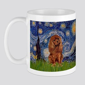 Starry Night & Ruby Cavalier Mug