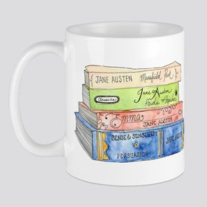 Jane Austen Books Mug