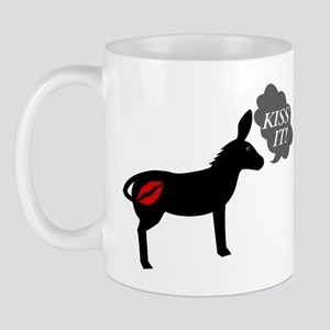 Donkey Says Kiss It With Kissy Lips Mug