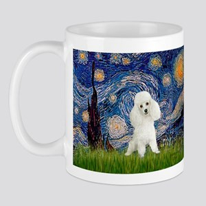 Starry / Poodle (White) Mug