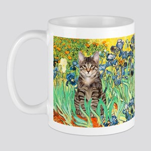 Irises / Tiger Cat Mug