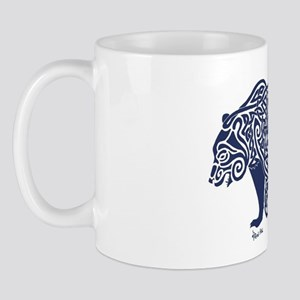 Bear Knotwork Blue Mug