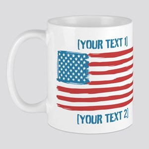 [Your Text] 'Handmade' US Flag Mug