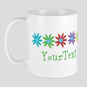 Personalize Flowers (left) Mugs