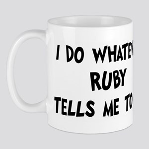 Whatever Ruby says Mug