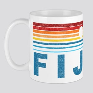 Retro Fiji Palm Tree Mug