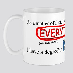 Psychology Degree Mug Mugs
