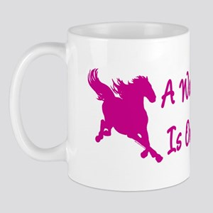 Woman's Place Is On Her Horse Mug