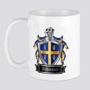 Johnson Family Crest Mugs - CafePress