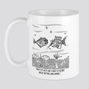 Fish Worries About Lung Cancer Mug