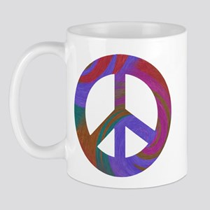 Peace Sign Swirl Mug