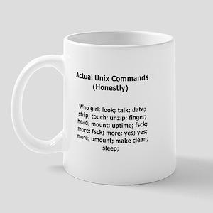 Unix Commands Mugs - CafePress