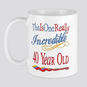 Incredible At 40 Mug