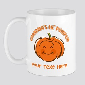 Grandma's Little Pumpkin Personalized Mug