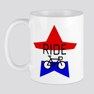 2-ridetext bike ROAD3 USAstar Mugs