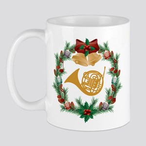 French Horn Christmas Music Mug
