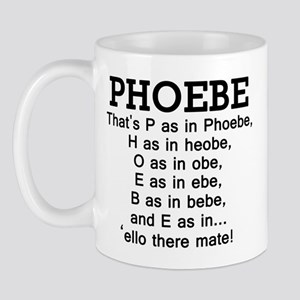 'P as in Phoebe' Mug
