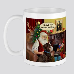 Santa's Therapy Dog (Lab-C) Mug
