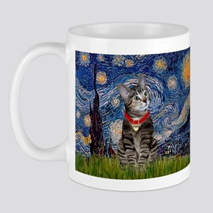 Starry Night / Tiger Cat Mug