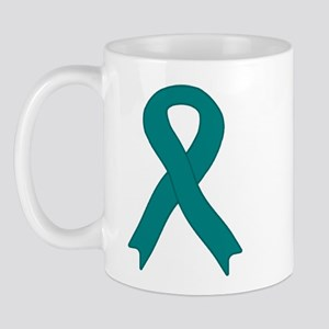 Teal Ribbon Mug
