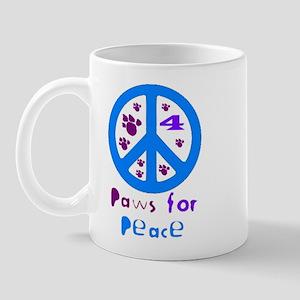 Paws for Peace Blue Mug