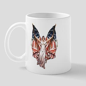 Vintage American Flag Art Mug