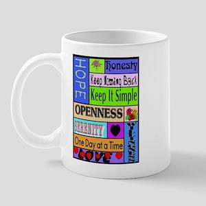 COLORED BLOCK SLOGANS Mug