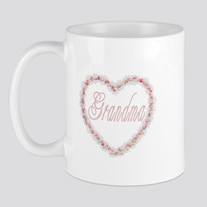 Grandma - Heart of Flowers Mug