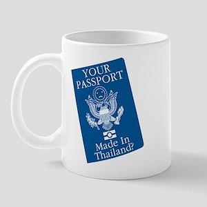 Outsourced Passport Mug