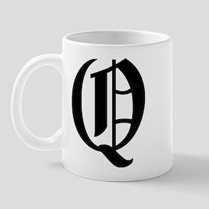 "Letter ""Q"" (Gothic Initial) Mug"