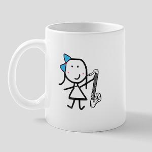 Girl & Bass Clarinet Mug